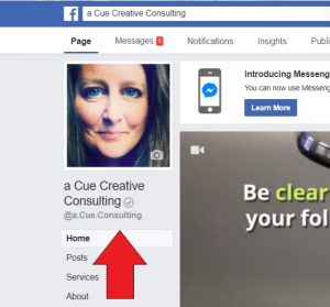 How to Verify your Facebook Page - a Cue Consulting