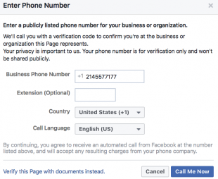 Verifying your Facebook Page - a Cue Consulting